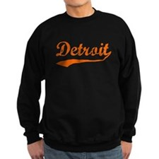 Detroit Script Distressed Sweatshirt