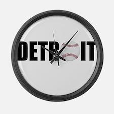 Detroit Baseball Large Wall Clock