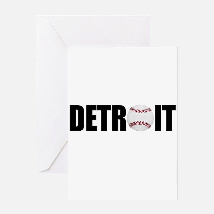 Detroit Baseball Greeting Card