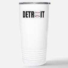 Detroit Baseball Stainless Steel Travel Mug