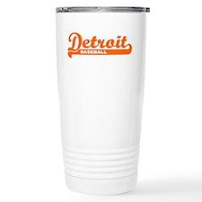Detroit Baseball Script Travel Coffee Mug