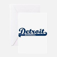 Detroit Baseball Script Greeting Card