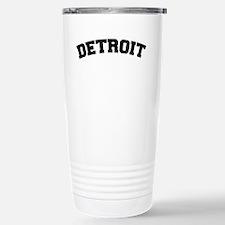 Detroit Black Stainless Steel Travel Mug