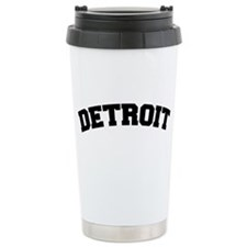 Detroit Black Travel Mug