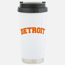 Detroit Orange Stainless Steel Travel Mug