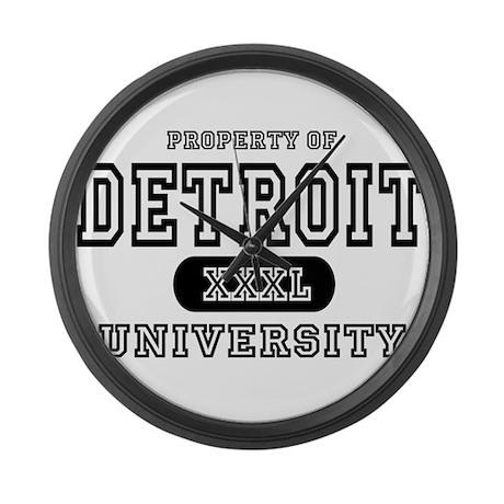 Detroit University Large Wall Clock