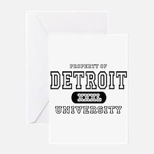 Detroit University Greeting Card