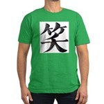 Smile Japanese Kanji Men's Fitted T-Shirt (dark)
