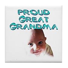 Proud great grandma Tile Coaster