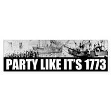 1773 Tea Party Bumper Car Sticker