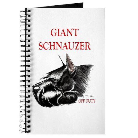 giant schnauzer off duty Journal