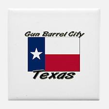 Gun Barrel City Texas Tile Coaster