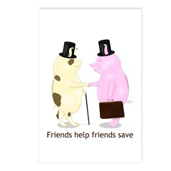 Friends Help Friends Save Postcards (Package of 8)