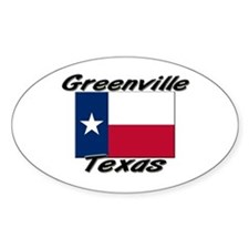 Greenville Texas Oval Decal