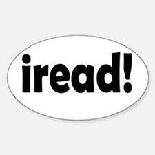 Read! Read! Read! Oval Decal