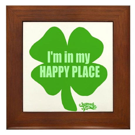 I'm In My Happy Place Framed Tile