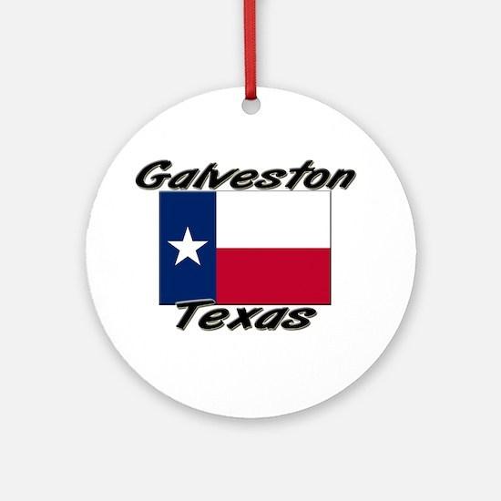 Galveston Texas Ornament (Round)