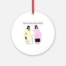 Pecuniary Associates Piggy Banks Ornament (Round)