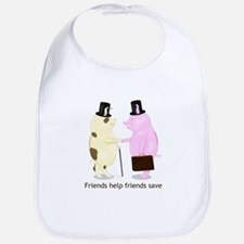 Friends Help Friends Save Bib