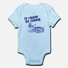 Rather Be Fishing Infant Bodysuit