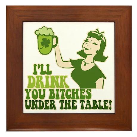 Drink You Under The Table Framed Tile