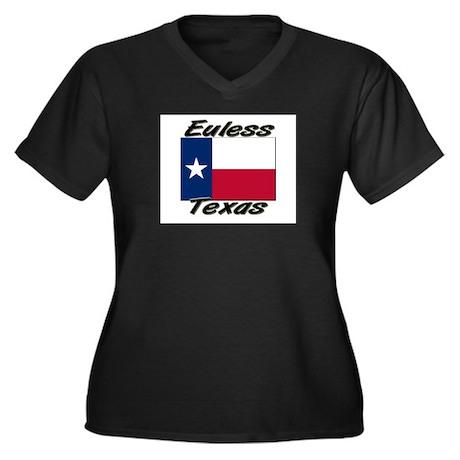 Euless Texas Women's Plus Size V-Neck Dark T-Shirt