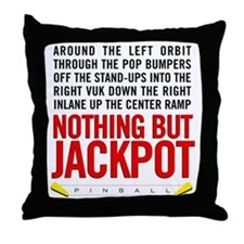 Nothing But Jackpot Throw Pillow
