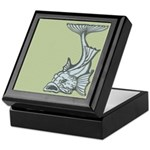 Blue Art Nouveau Fish Keepsake Box