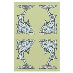 Blue Art Nouveau Fish Posters