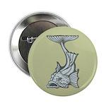 """Blue Art Nouveau Fish 2.25"""" Button (10 pack)"""