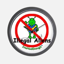 No Illegal Aliens Wall Clock