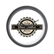 Genuine American Disc Golfer Wall Clock