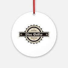 Genuine American Disc Golfer Ornament (Round)