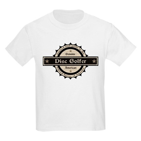 Genuine American Disc Golfer Kids Light T-Shirt