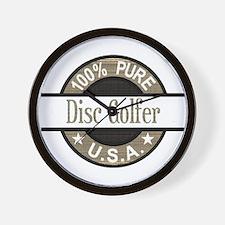 USA Disc Golfer Wall Clock