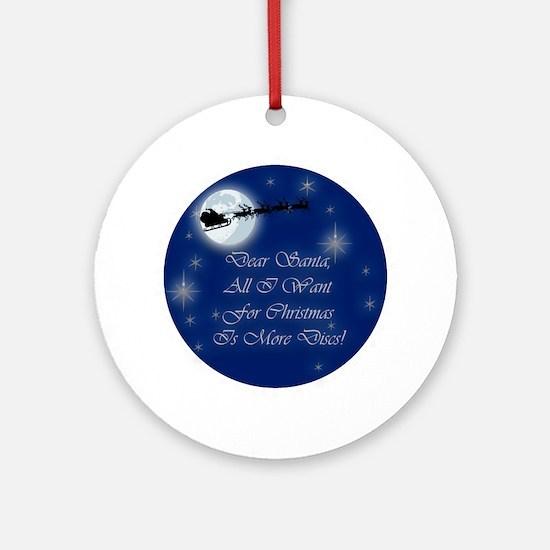 Santa More Discs Christmas Ornament (Round)
