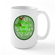 Stocking Discs Christmas Mug