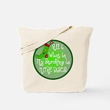 Stocking Discs Christmas Tote Bag