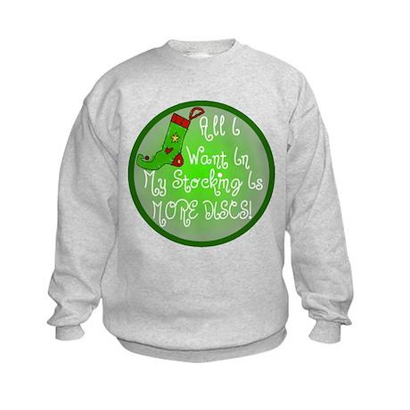 Stocking Discs Christmas Kids Sweatshirt