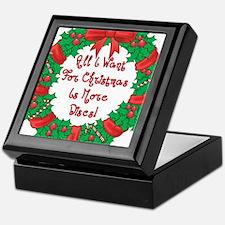 Wreath Disc Golf Christmas Keepsake Box