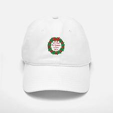 Wreath Disc Golf Christmas Baseball Baseball Cap