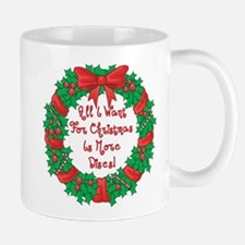 Wreath Disc Golf Christmas Mug