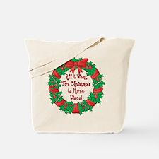 Wreath Disc Golf Christmas Tote Bag