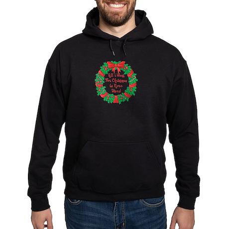 Wreath Disc Golf Christmas Hoodie (dark)