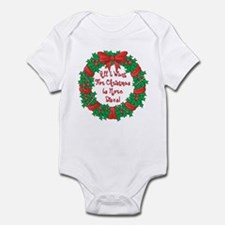 Wreath Disc Golf Christmas Infant Bodysuit