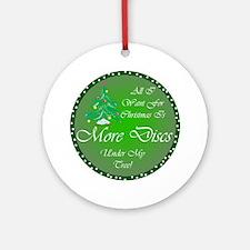 Christmas Tree Golf Discs Ornament (Round)