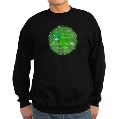 Christmas Tree Golf Discs Sweatshirt (dark)