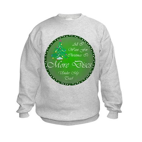 Christmas Tree Golf Discs Kids Sweatshirt