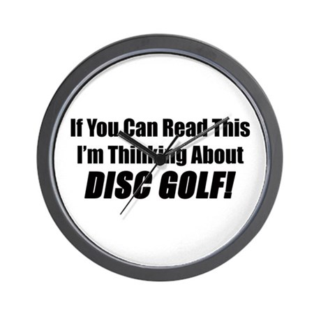 Thinking About Disc Golf Wall Clock