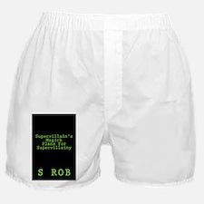 SUPERVILLAIN'S PLANS Boxer Shorts